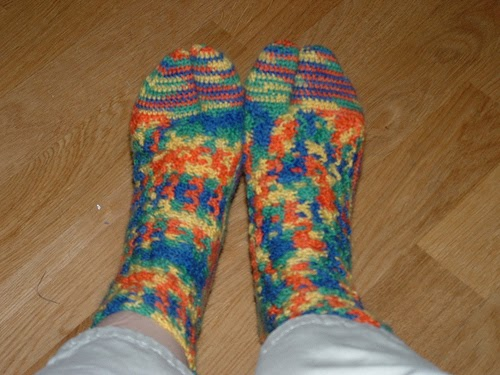3a90379ebf8f38 Treasures Made From Yarn  Crocheted Thong Sock Pattern