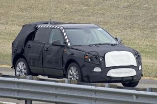 Saab's new 9-4X SUV having a test run