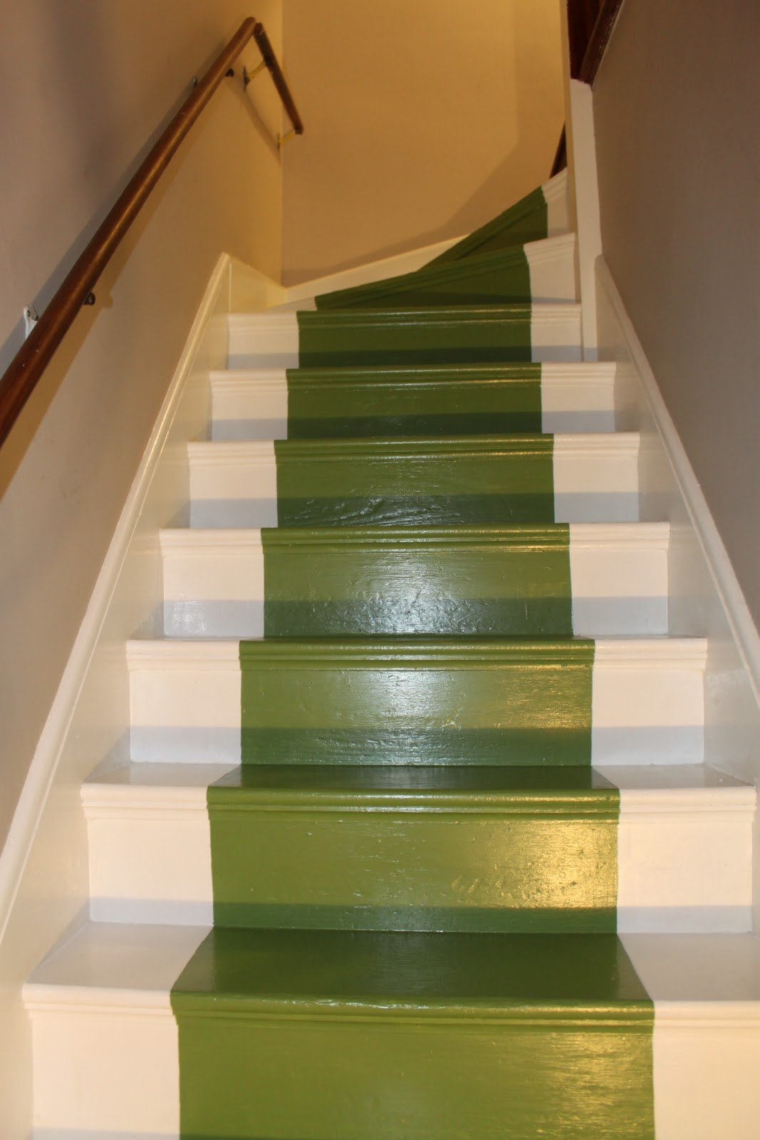 Lighting Basement Washroom Stairs: Living Livelier: Painted Stair Runner DIY