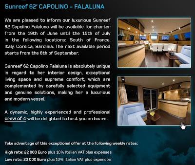 charter catamaran CAPOLINO FALALUNA Sunreef 62