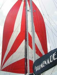 Sail Dive trimaran PROMENADE charters in the BVIs. Book with ParadiseConnections.com