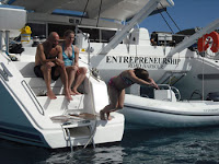 Charter catamaran ENTREPRENEURSHIP in New England or Virgin Islands with ParadiseConnections.com