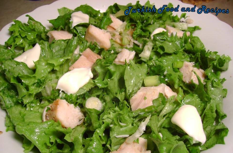 Lettuce Chicken Salad Tavuklu Kivircik Salatasi