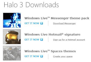 meraTechPort: Halo 3 Goodies from Windows Live