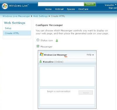 meraTechPort: Using Windows Live Messenger IM Control on