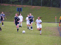 Meagan Proper moves the ball upfield