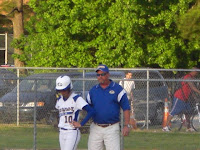 Scottie Powell on first w/Coach Harris; perfect on the night