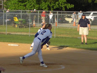Christie Wright delivers to the plate