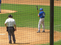 Pat Monahan ready at the plate