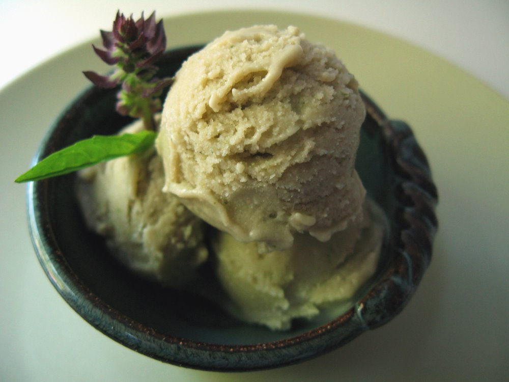 Thai basil ice cream