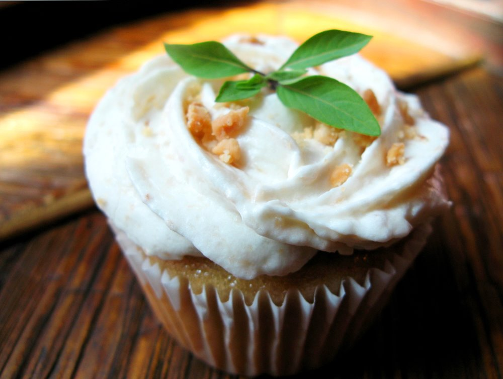 Single Thai Basil Cupcake