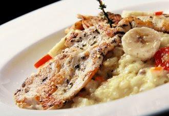 lala風料理: 〔食譜〕減肥水果料理:米蘭香蕉燉飯佐香草雞胸