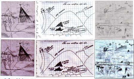 Arriba: fotos originales; abajo: fotos de Año Cero
