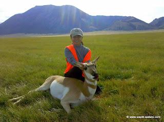Betty's Montana pronghorn hunting success