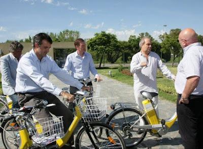 Bicicletas elétricas em organismos publicos da Argentina