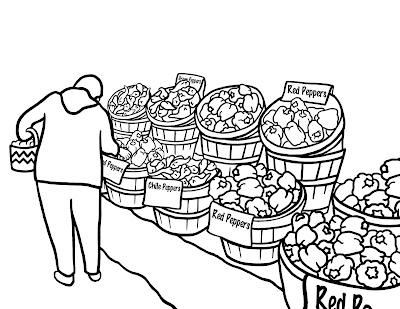 food market coloring pages | Salon Du Brutus
