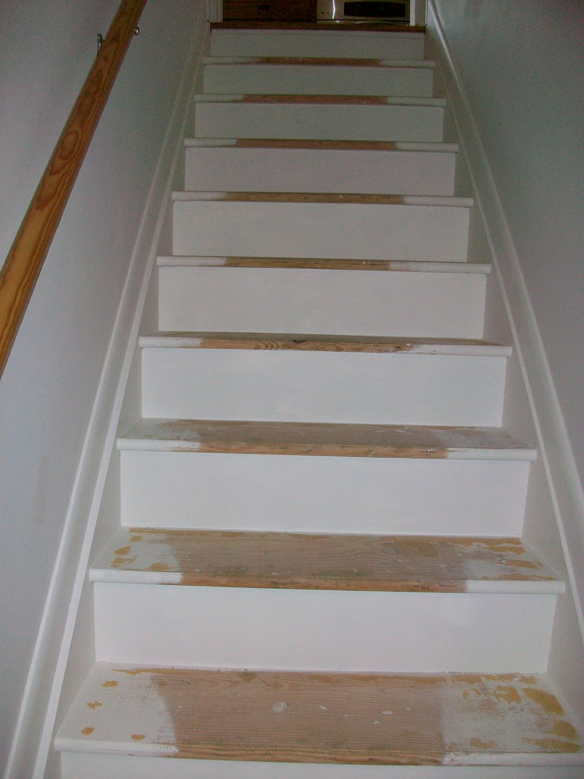 Pine Tree Home: Painted Stairs- One