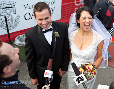victoria marathon newlyweds interview - Michelle and Oliver - October 10, 2010