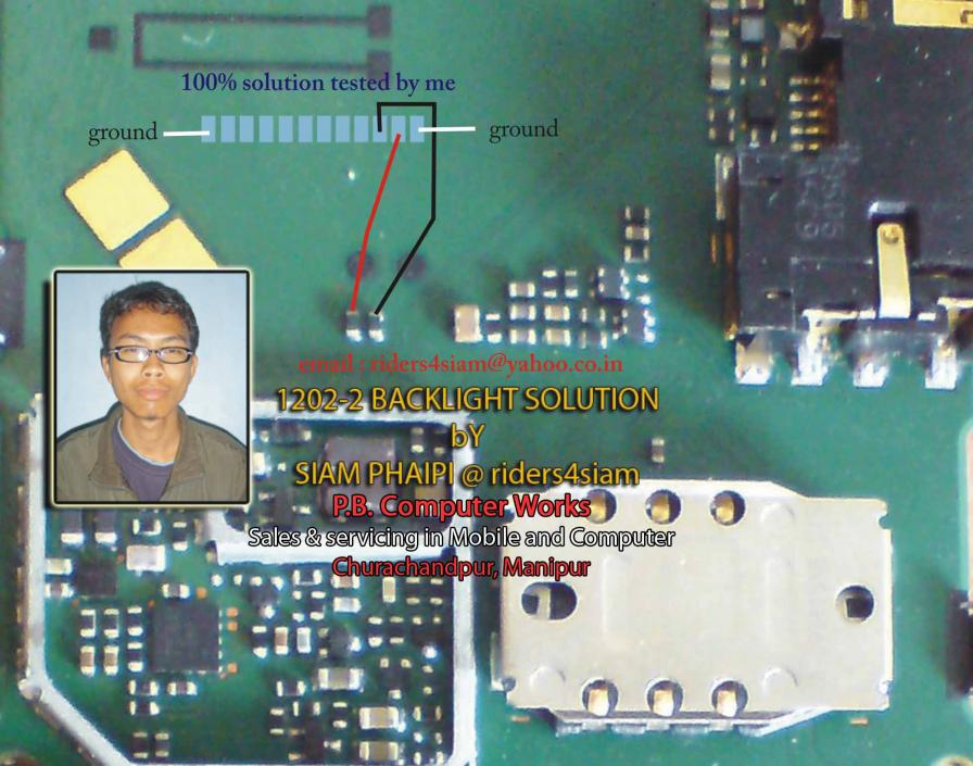 Gsm Repair Solutions Nokia 1202 Display And Keypad Light Solution