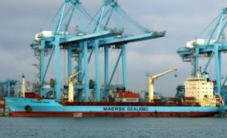 Alexander Maersk en Algeciras