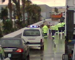 trabajadores en lucha en el Puerto de Algeciras