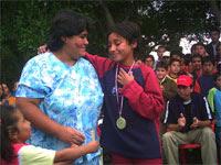 Milenka Rojas y su madre