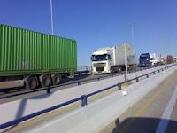 Camiones saliendo del puerto de Algeciras