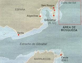 Area de busqueda del HMS Sussex
