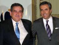 Presidente de ANAVE, Juan Riva (Dcha)y el Secretario General de Transportes, Fernando Palao (Izq)