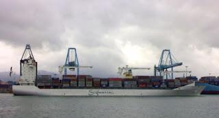 Safmarine Concord zarpando del Puerto de Algeciras