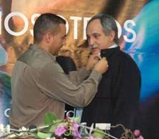 Antolín Goya, secretario general de Coordinadora, actual Coordinador de IDC y Julián García Coordinador saliente de IDC