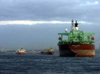 Buques fondeados en la Bahía de Algeciras