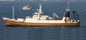 Odyssey Explorer atracando en la Isla verde