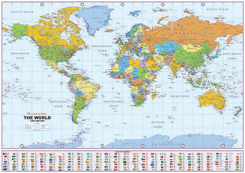 Navigation World Map.Scale Of A Map Wilderness Navigation Guide