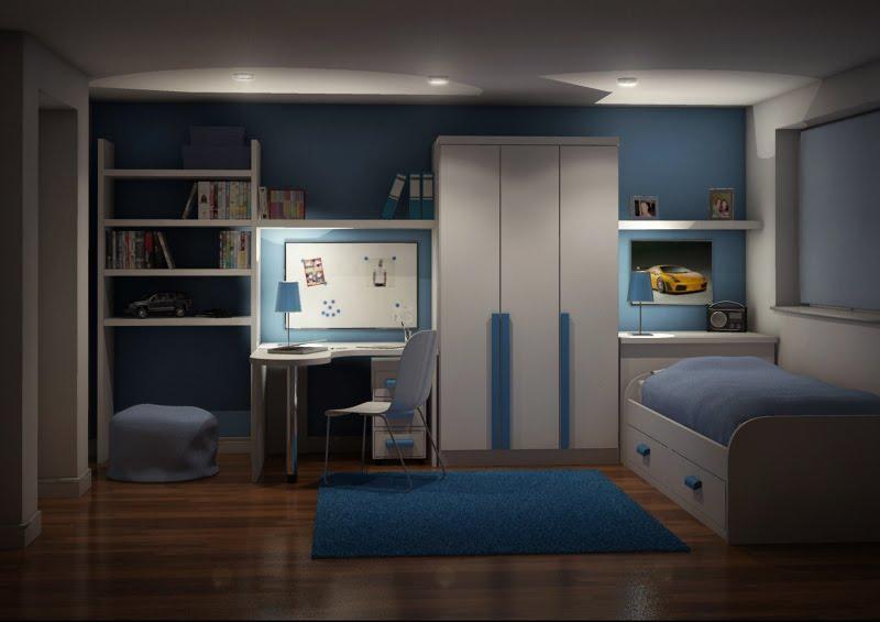 genelange  Kids Bedroom At Night