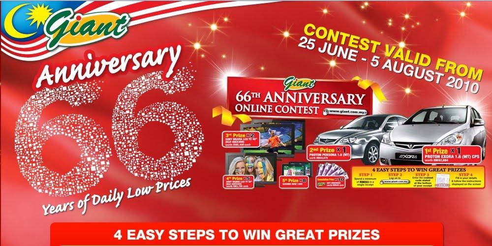 I-Love-Contests: (Malaysia) Giant : 66th Anniversary Contest