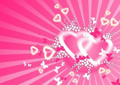 pink love hearts wallpaper