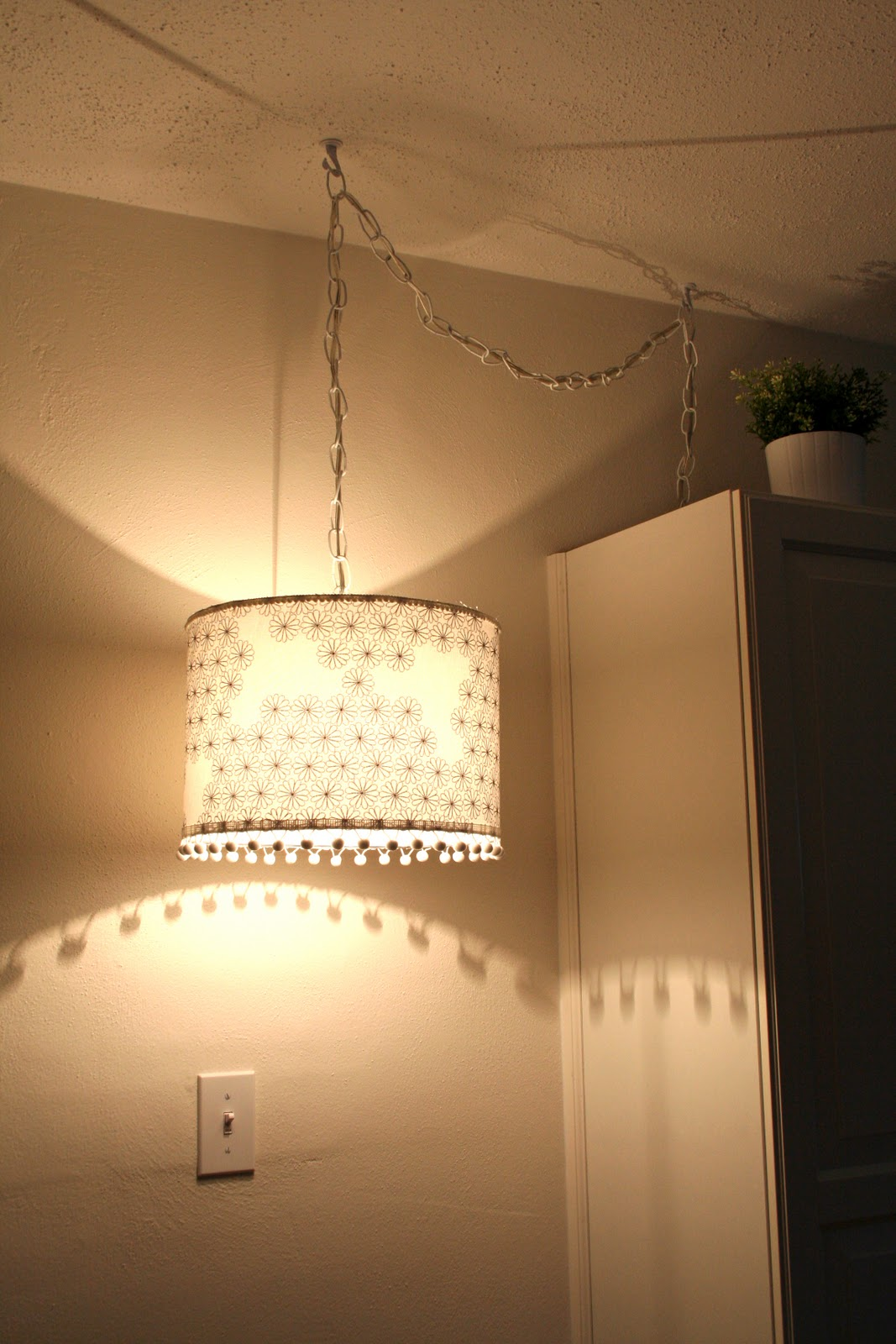Our Nest of 3: DIY Swag Lamp and Drum Lamp Shade We Made!