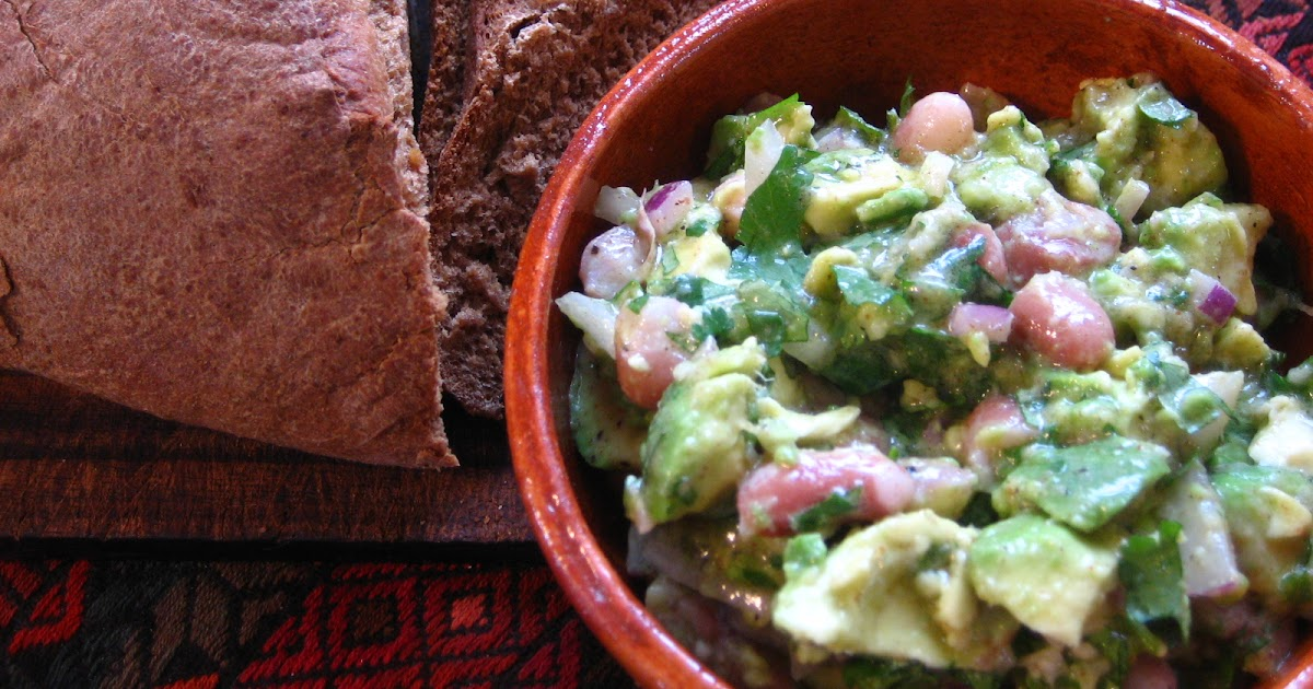 Recipes from 4EveryKitchen: Rustic Avocado & Bean Spread