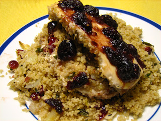 Recipes from 4EveryKitchen: Cranberry Couscous Stuffed Chicken Breasts