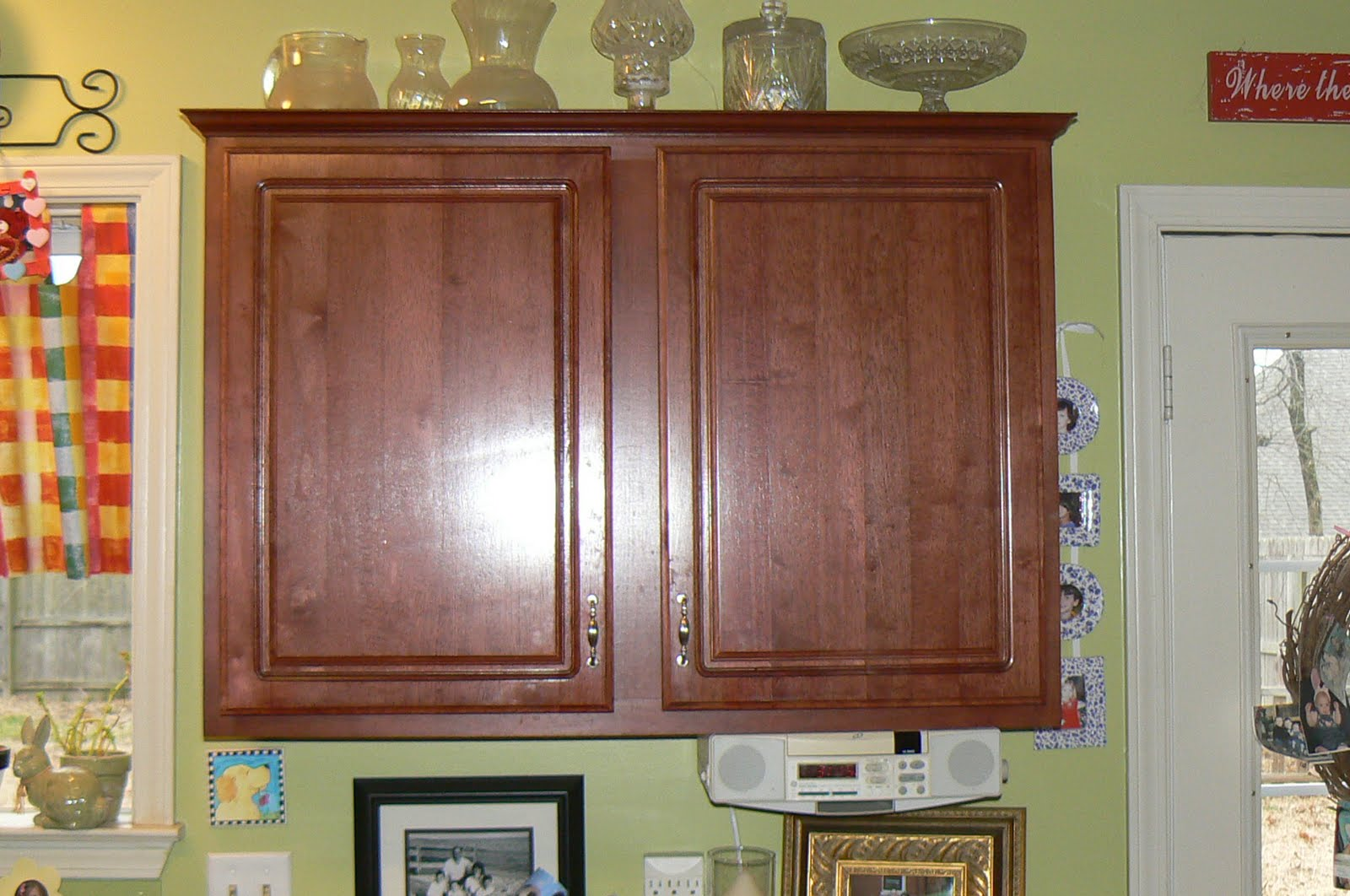 Glazed Kitchen Cabinets Back Splash My 4littlepilgrims Painted And