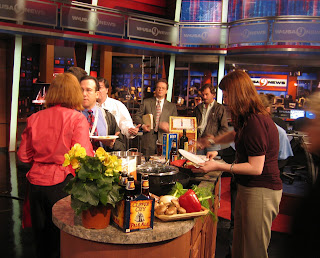 WUSA TV9 hosts and staff talk with Lucy Saunders following her live cooking demo