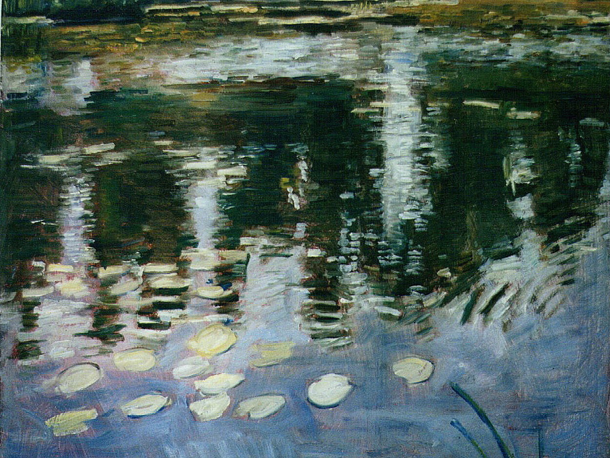 Oil Painting Medic: The Ripples in My Lake Painting Look ...