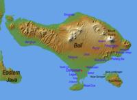 Mapa de Bali