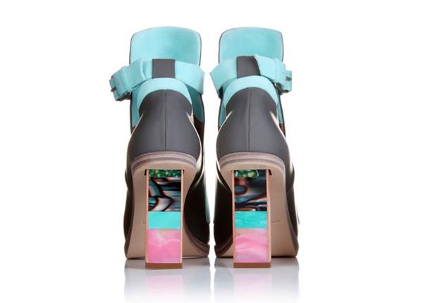 Coco Celine  Balenciaga Detailed Heel Leather Sandals