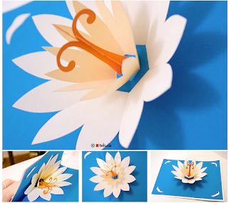 papierblumen falten lotus flower. Black Bedroom Furniture Sets. Home Design Ideas