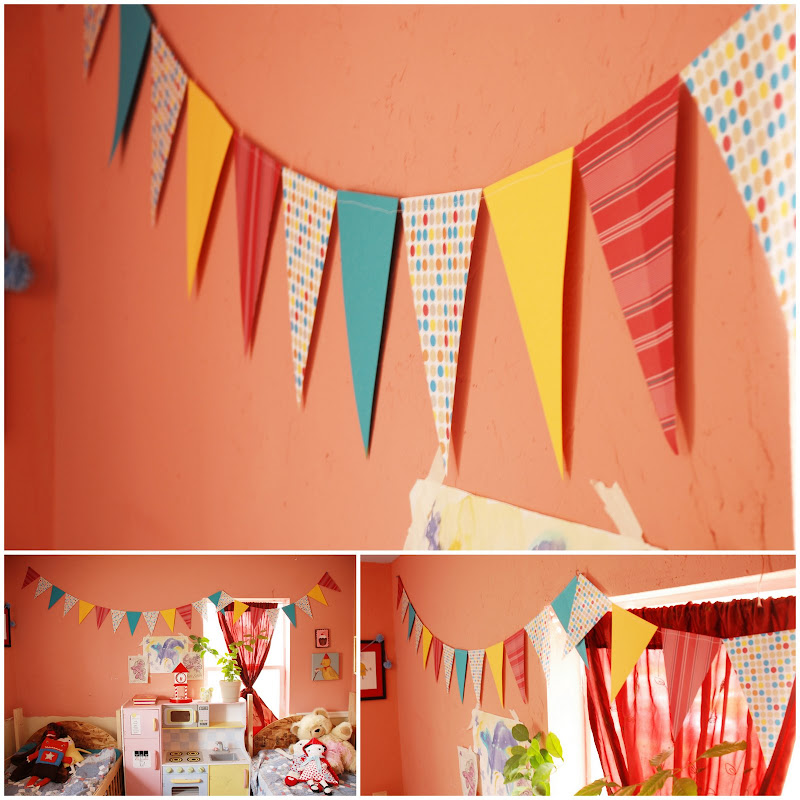Banners For Bedrooms: Paper Flag Banner