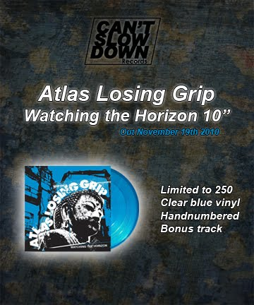 [NEWS] Atlas Losing Grip vinyl by Can't Slow Down Records!