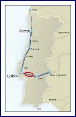 tgv em portugal mapa Atribulações: TGV passa por Vendas Novas tgv em portugal mapa