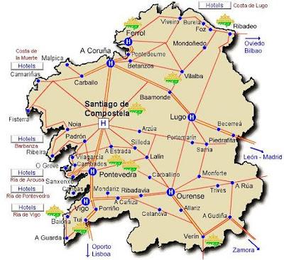 Mapa De Carreteras Galicia.Mapa Carreteras Galicia Mapa